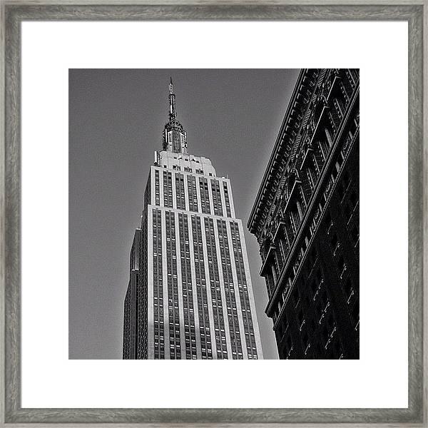 #empirestate #empire #usa #newyorker Framed Print