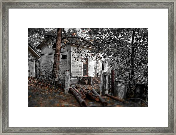 Empty And Abandoned Framed Print