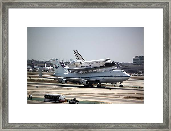 Endeavour Landing At Lax Framed Print