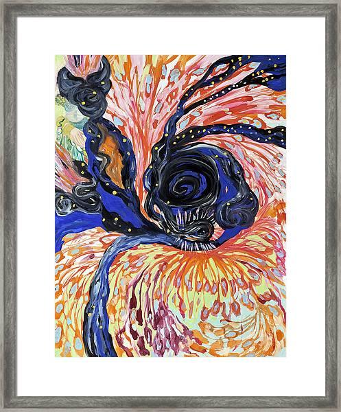 Energy Swirls Framed Print