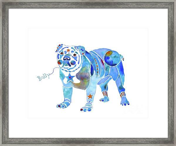 English Bulldog Bully Framed Print