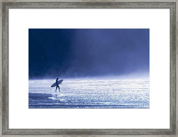 Entering The Blue Framed Print