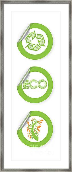 Environmental Sticker Design Framed Print by HD Connelly