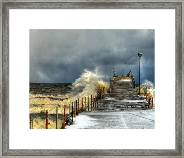 Erie Storm Framed Print