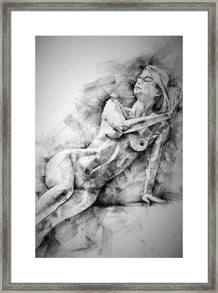 Erotic Sketchbook Page 2 Framed Print