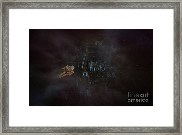 Escape In Space Framed Print