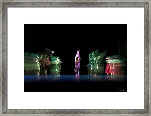Escaping Dancers Framed Print