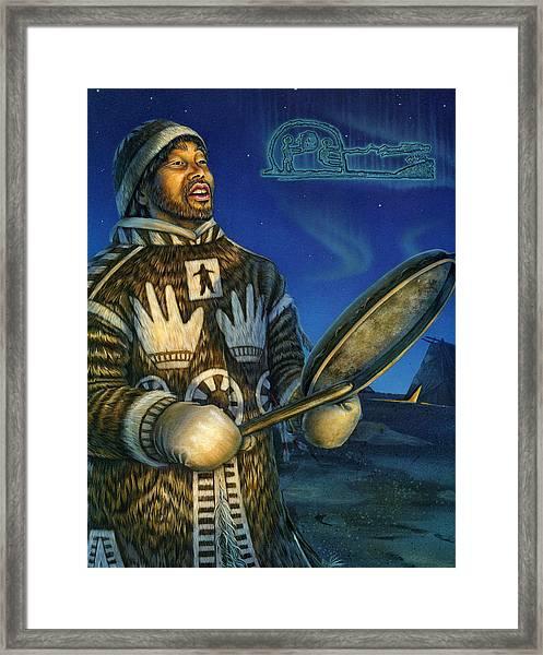 Eskimo Shaman Framed Print