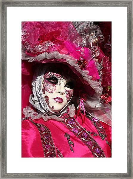 Eve In Pink Framed Print