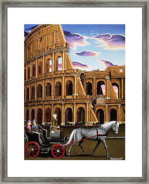 Evening In Rome Framed Print