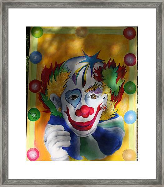 Everybody Loves A Clown Framed Print