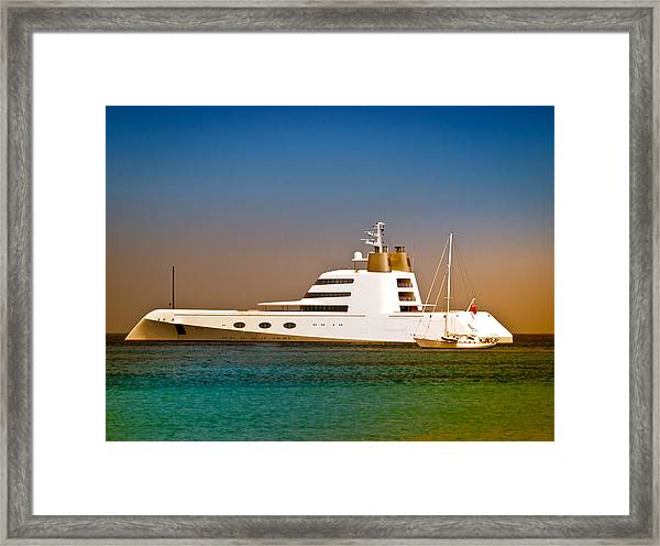 Exotic Yacht Framed Print