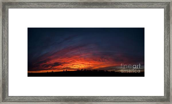Expansive Sunset Framed Print