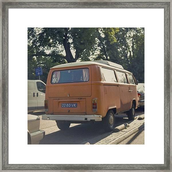 Expired Kodak Portra And #vw #bus Framed Print