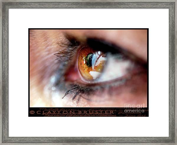 Eye Don't Know Framed Print
