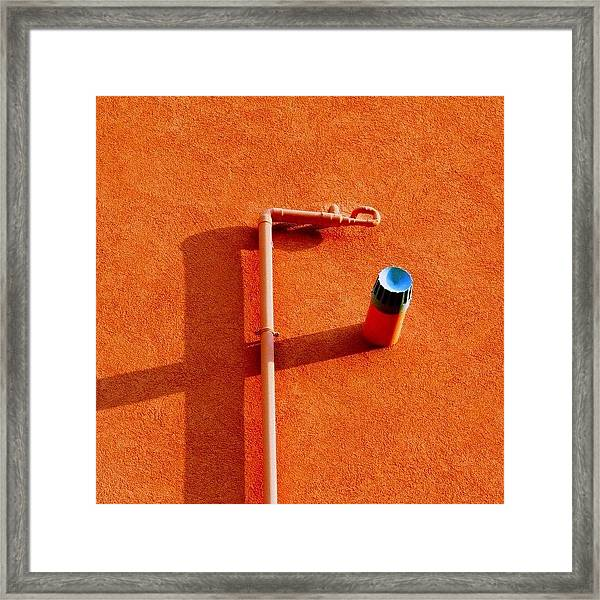 F Stop #detail #shadow #italy Framed Print
