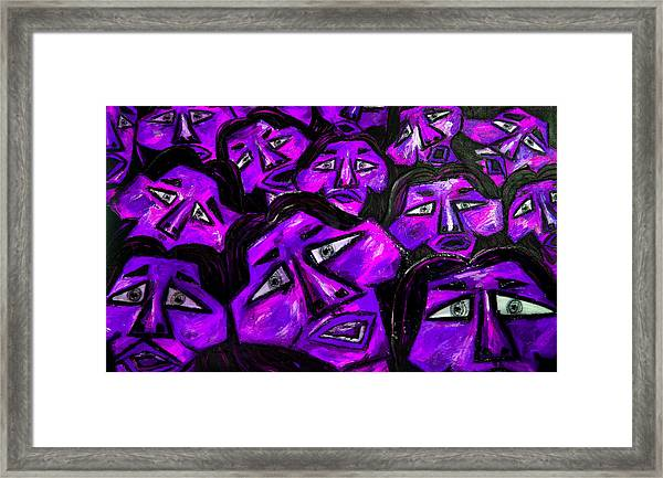 Faces - Purple Framed Print