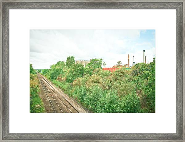 Factory And Trainlines Framed Print
