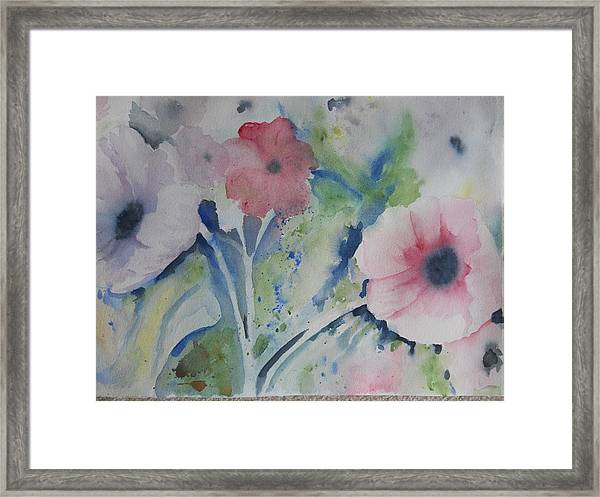 Faded Poppies Framed Print