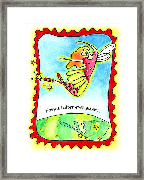 Fairies Flutter Everywhere Framed Print