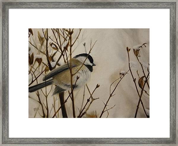 Faithful Winter Friend Framed Print