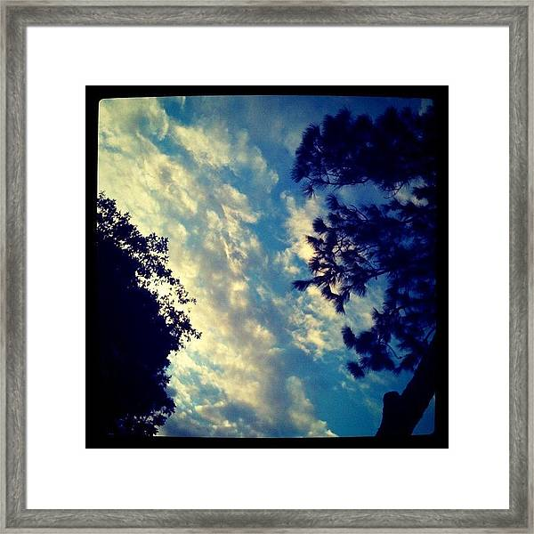 Fake? #clouds #cloudporn #sky #light Framed Print