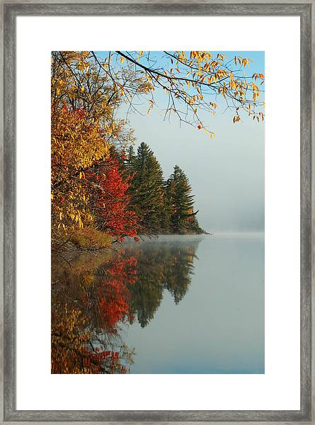 Fall Colors On Low's Lake Framed Print