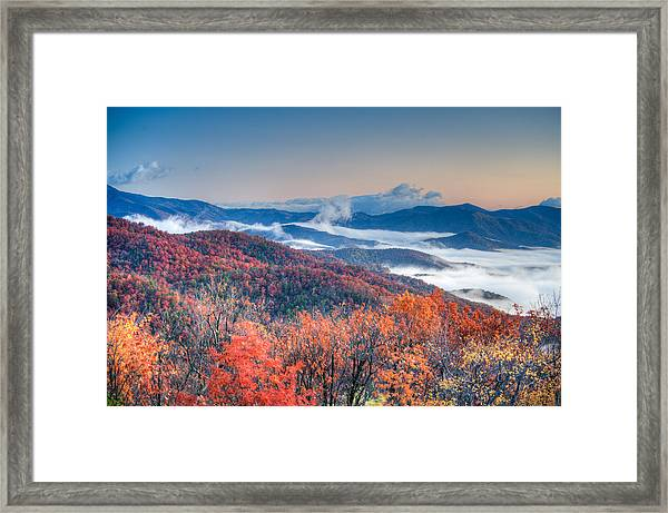Fall Fog 1 Framed Print