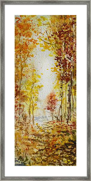Fall Tree In Autumn Forest  Framed Print