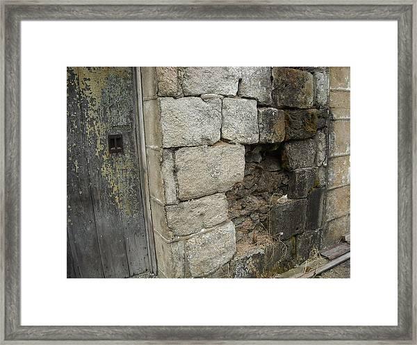 Falling Wall Framed Print