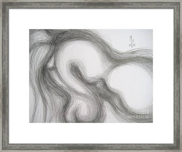 False Despair And A Silver Heart Framed Print