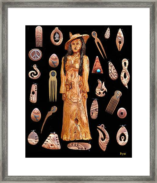 Framed Print featuring the mixed media Fashion Jewellery Tour by Eric Kempson