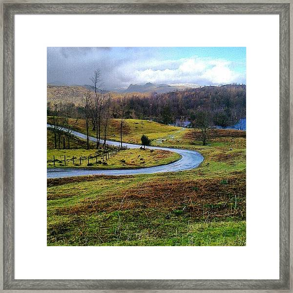 February In The Lakes Framed Print