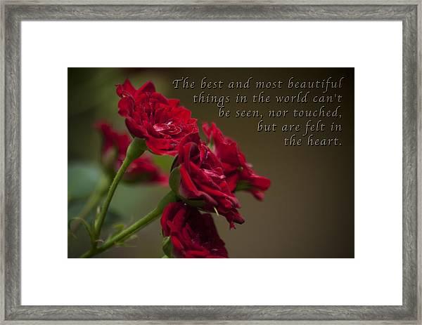 Felt With Heart Framed Print