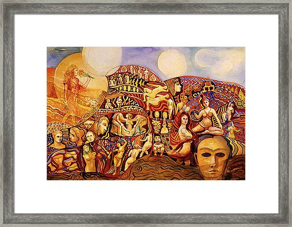 Female Journey Framed Print