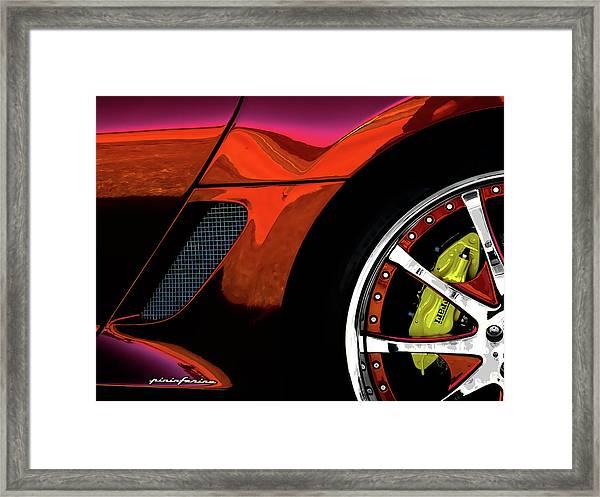Ferrari Wheel Detail Framed Print