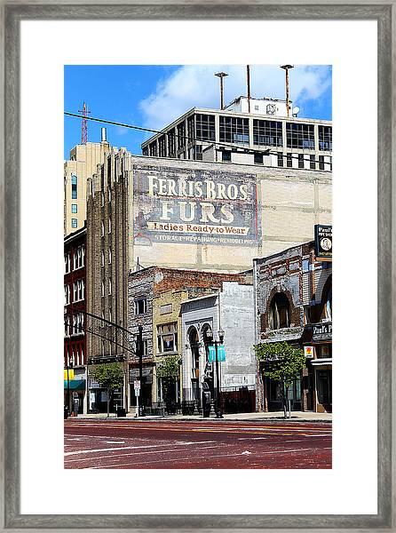 Ferris Brothers Furs Framed Print
