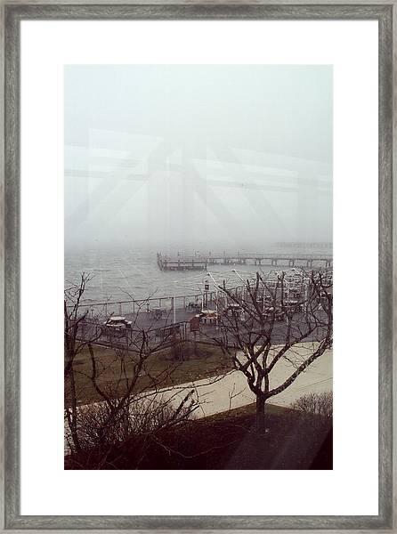Ferry 2 Framed Print by Cynthia Harvey