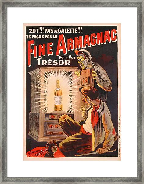 Fine Armagnac Advertisement Framed Print