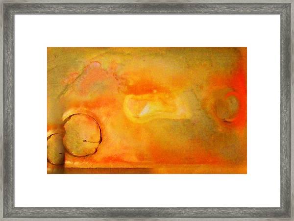 Fine Art Painting Original Ditital Abstract Palette Framed Print