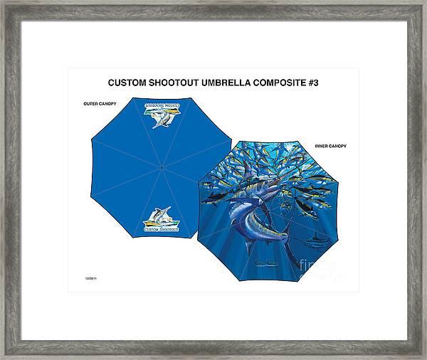 Fine Art Umbrellas Framed Print