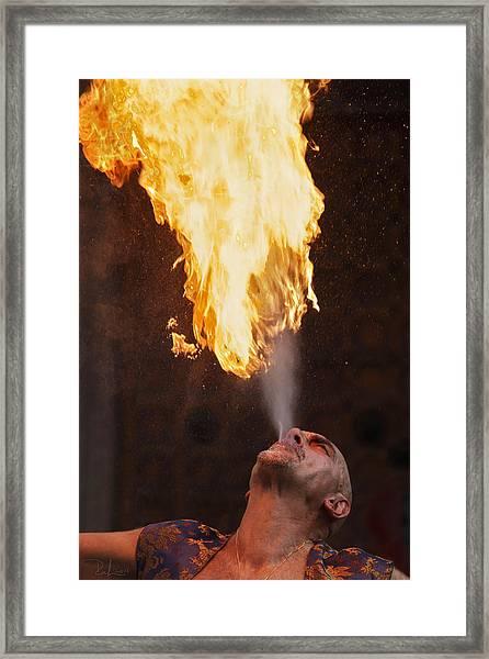 Fire Eater 2 Framed Print