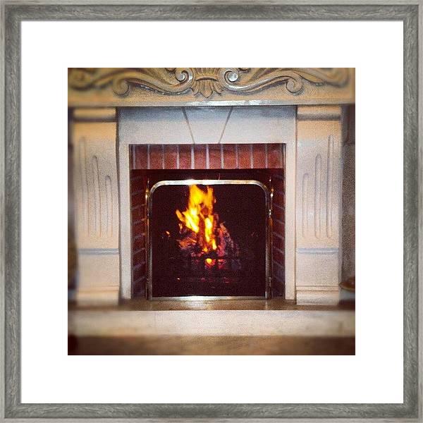 #fire #fireplace #classic #igaddict Framed Print