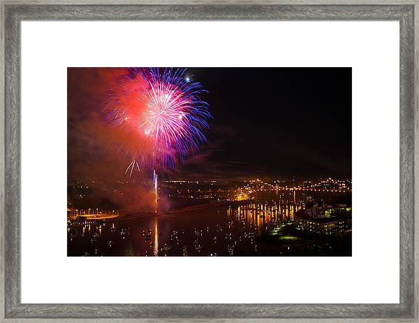 Fire In The Sky Framed Print by Joshua Ball