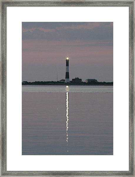 Fire Island Flash Very Early Morning Framed Print