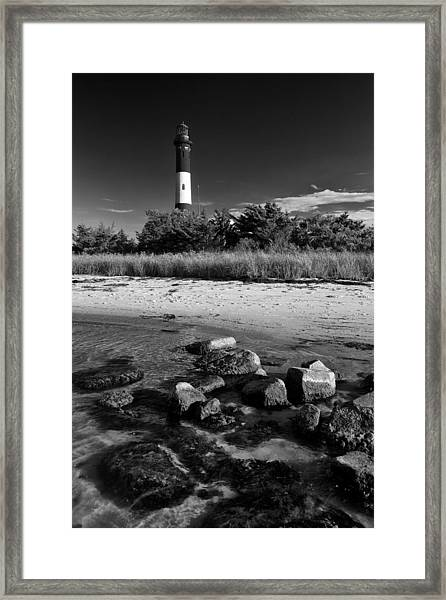 Fire Island In Black And White Framed Print