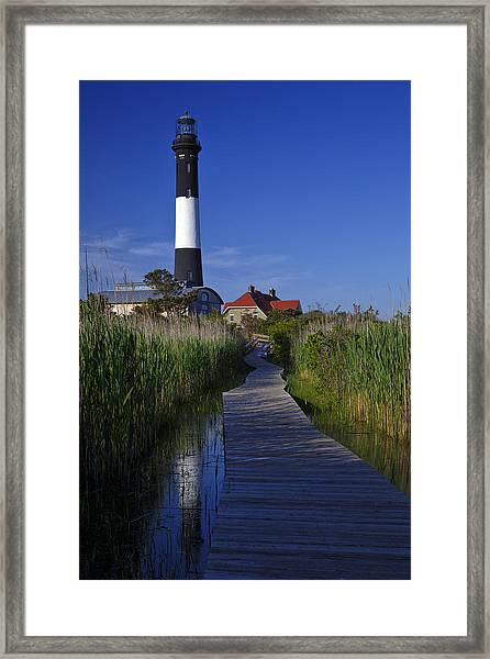 Fire Island Reflection Framed Print