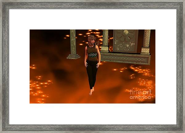 Fire Lady Framed Print