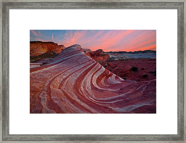 Fire Wave Framed Print by Guy Schmickle