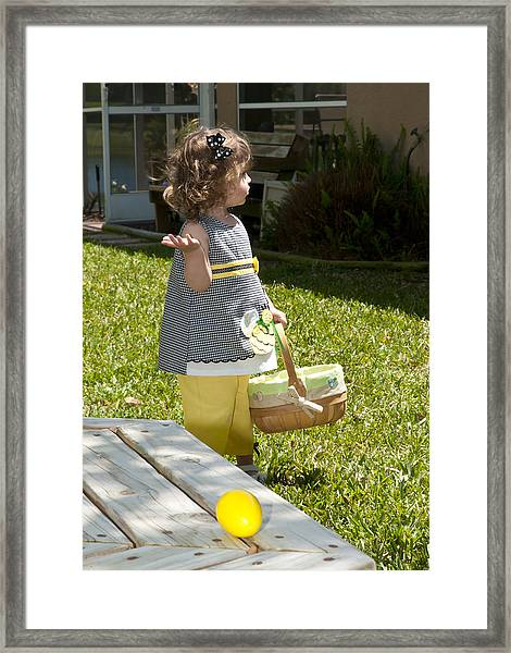 First Easter Egg Hunt Framed Print